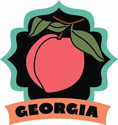 Georgia Peaches Vector Clip Travel Illustrations Royalty
