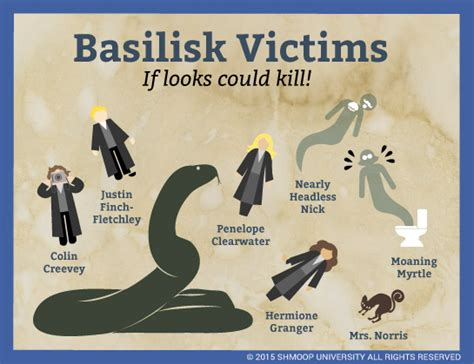 basilisk victims  harry potter   chamber