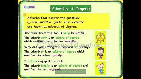 adverbs  degree youtube