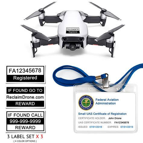 dji mavic air premium bundle faa registration card