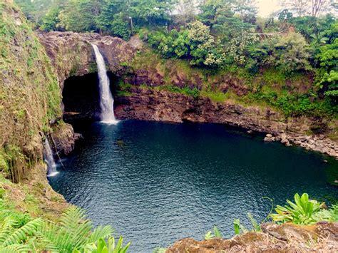 hawaii rainbow falls big island relax vacations destinations tropical tropics warm
