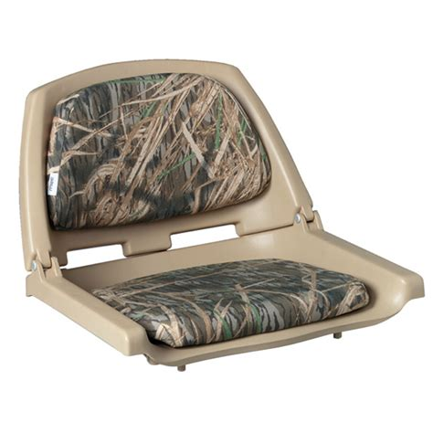 Wise Plastic Folding Boat Seat by Wise Seating Camouflage Folding Plastic Boat Seat West