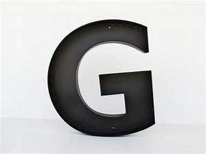 metal letters quotgquot sign letter wall decor letters large With black metal letters for wall