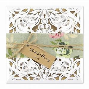 farrah with floral belly band pure invitation wedding With belly bands for wedding invitations uk