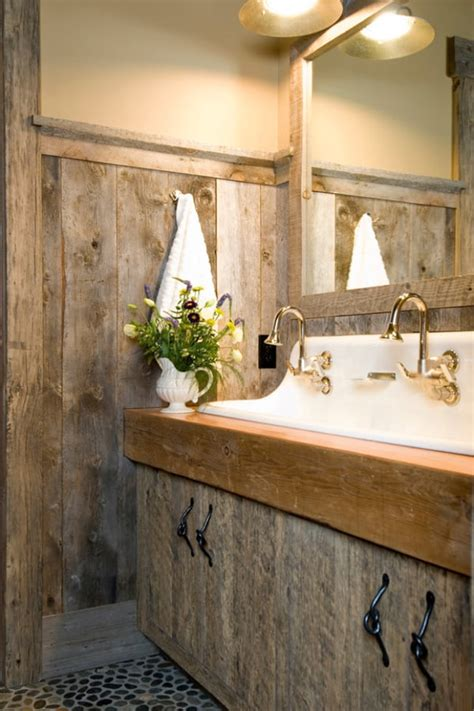 insanely beautiful rustic barn bathrooms