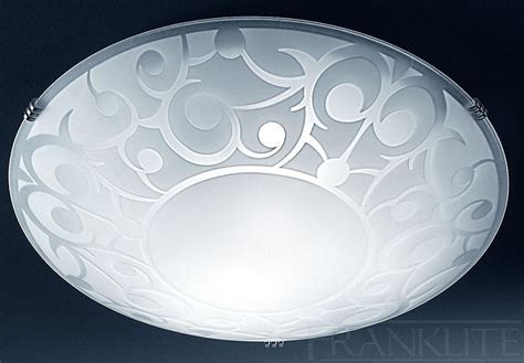 Franklite Acid Decorative Pattern Flush Ceiling Light
