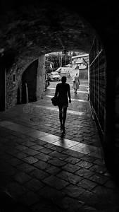 308, Woman, Walking, Dark, Tunnel, Photos