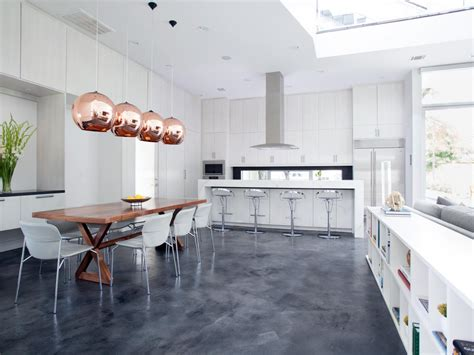 fresh modern house flooring kitchen concrete floor home design