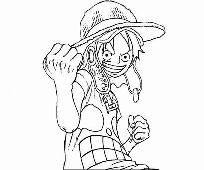 Luffy Coloring Monkey Printable
