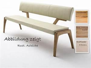 Esszimmer Mit Bank : sitzbank gepolstert 130x86x60 cm massivholz ge lt echtleder creme ~ Watch28wear.com Haus und Dekorationen