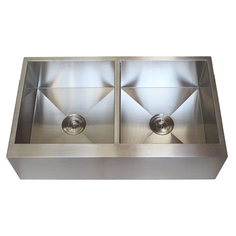 36 inch stainless steel flat front farmhouse apron kitchen
