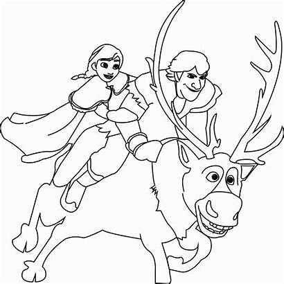 Sven Frozen Coloring Pages Kristoff Anna Olaf
