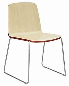 Chaise Pied Chromé : chaise empilable just bois fr ne avec contour rouge pied chrom normann copenhagen ~ Teatrodelosmanantiales.com Idées de Décoration