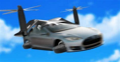 era  tesla meet  model  autonomous flying car