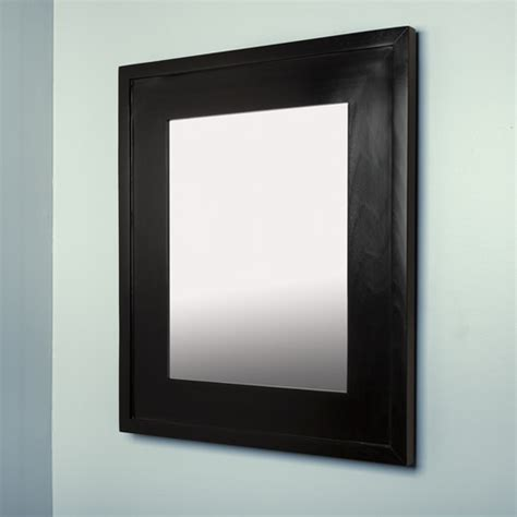 large black concealed cabinet recessed in wall medicine