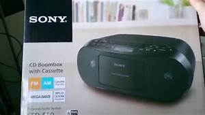 Sony Cfd-s50 Cd  Radio  Cassette-corder Box Review