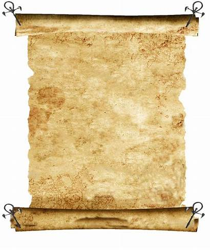 Scroll Blank Pinned Asclepius Caverns