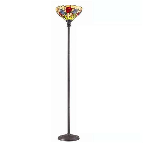 tiffany style torchiere floor ls amora lighting 70 5 in tiffany style tulips torchiere