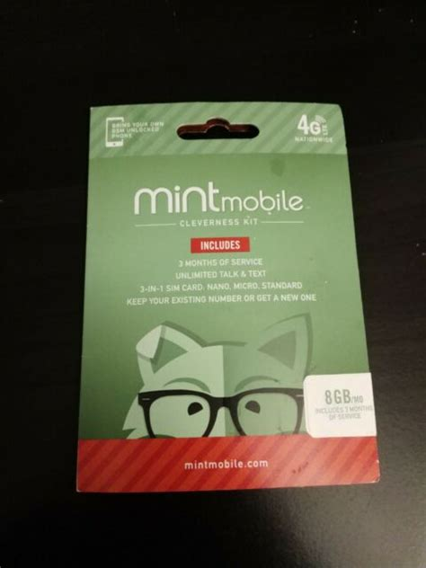 The tmobile prepaid no contract sim card activation kit is the easiest way to get started in pre paid plans to get voice / 4g data service in a quick and easy manner. Mint Mobile Prepaid SIM Card with Unlimited Talk and Text 8GB/Month LTE for 3 Months for sale ...
