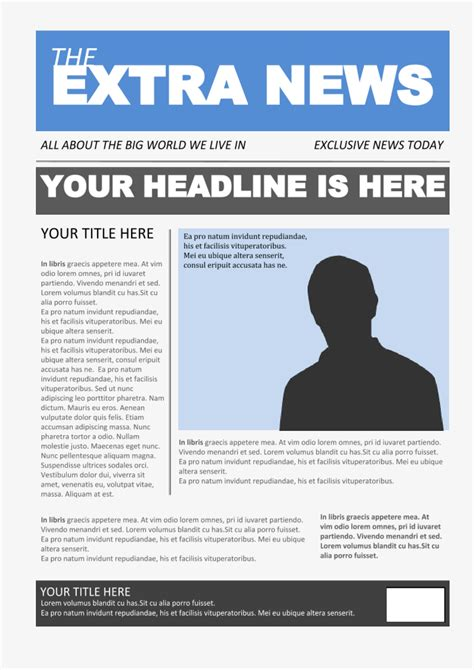 Newspaper Template 4 - Google Docs Templates