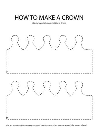 crown template 3 ways to make a crown wikihow
