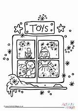 Colouring Toy Christmas Pages Coloring Store Toys Template sketch template