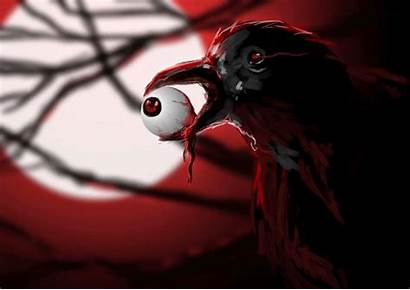 Scary Blood Halloween Raven Eyes Eye Wallpapers