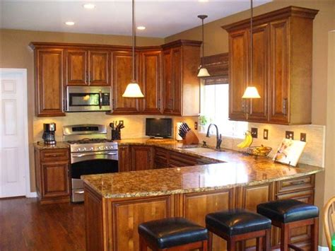 new kitchen cabinets and countertops burnished cherry cabinets granite countertops tile 7096