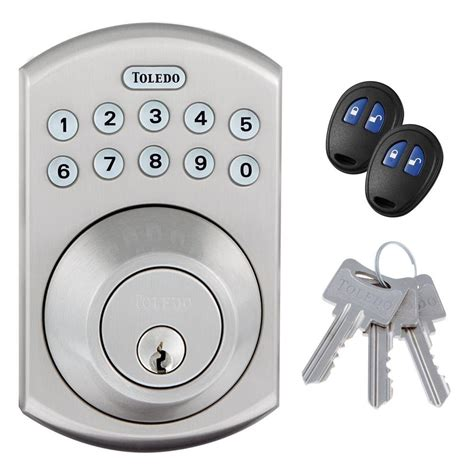electronic door locks review toledo locks stainless steel electronic deadbolt with