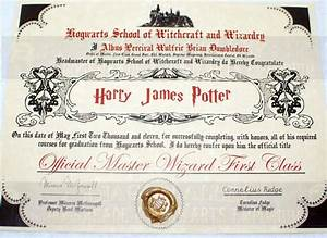 hogwarts diploma perfect for any witch wizard or harry With hogwarts certificate template