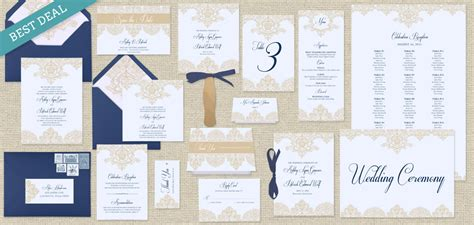 pearls lace printable wedding template collection