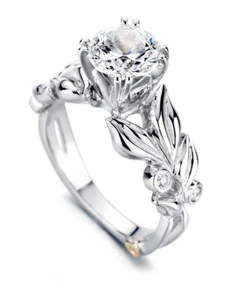 flora floral engagement ring schneider design