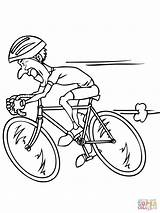 Coloring Pages Racing Bike Bicycle Bicycles Riding Mountain Cycling Printable Supercoloring Stamps Digital Digi Basket Sports Drawing Flower Printables Sport sketch template