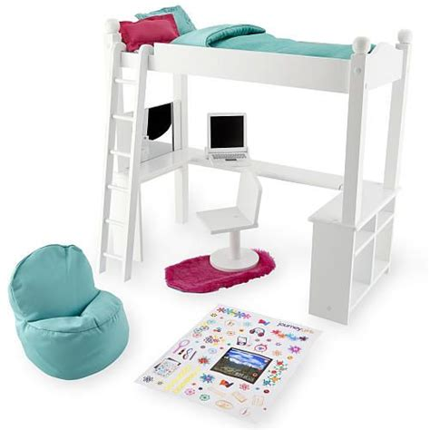 journey girls wood bed  desk combo toys toys