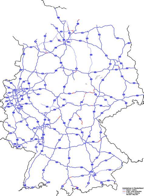 autobahn landkarte deutschland  blog