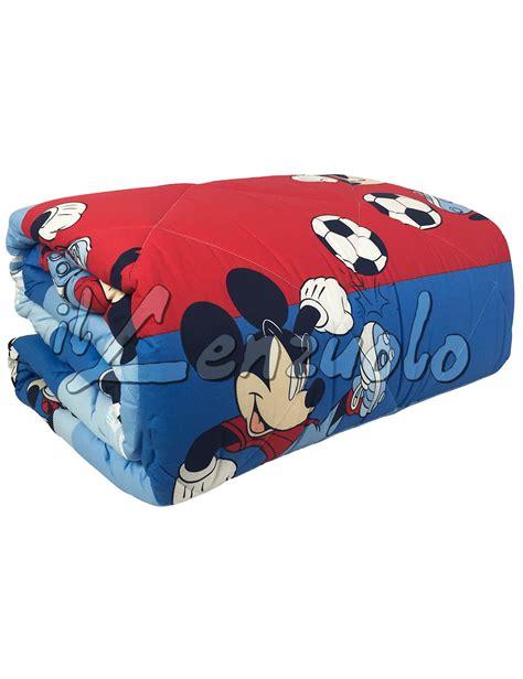 Piumone Disney by Trapunta Disney Letto Singolo In Cotone Mickey Calcio Di