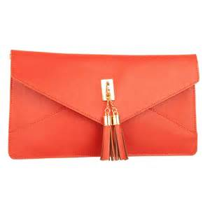 daniel orange dappy women s envelope clutch bag