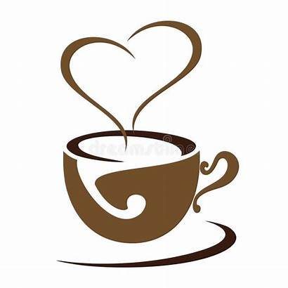Coffee Date Icon Vector Heart Silhouette Background