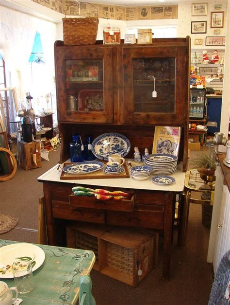 antique possum belly cabinet and hutch one drawer has