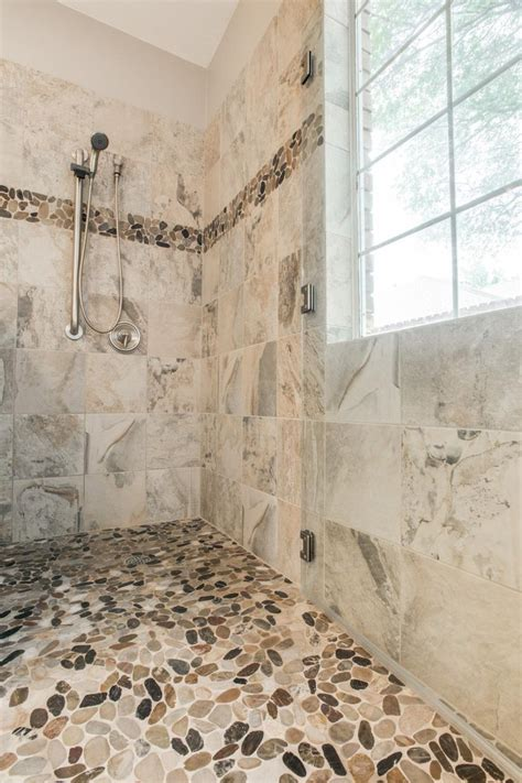 gorgeous walk  shower bathroom remodel dfw improved