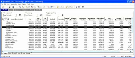 fixed asset register excel template exceltemplates