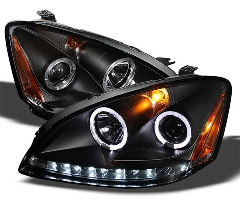 nissan altima headlights spyder halo led jdm black projector headlights nissan