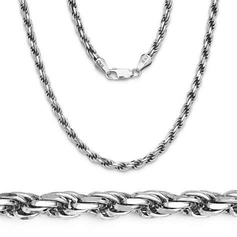 Mens Solid Rope Chain Necklace 925 Sterling Silver Italy. Womens Chains. Fancy Watches. Custom Bracelet. Engagement Rings Sale. Small Chains. Western Engagement Rings. Engraved Bangle Bracelets. Super Cool Watches
