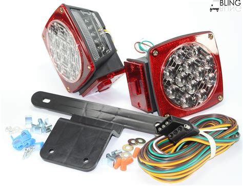 jeep tj led red jeep tj cj yj jk replacement tail led lights for pre