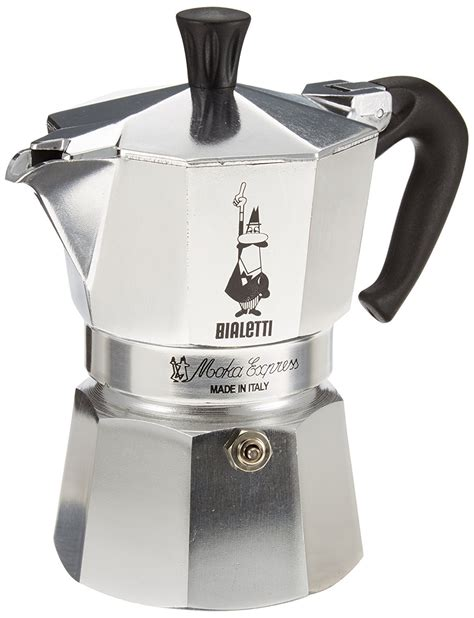 L Or Espresso Cups Aluminium by Bialetti 3 Cup Moka Express Espresso Coffee Maker Aluminum