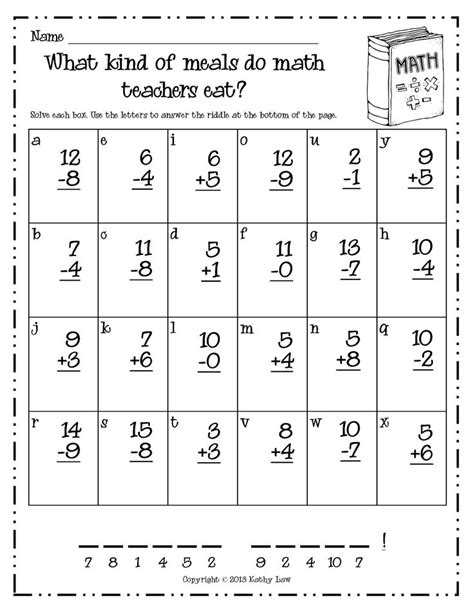 Free Printable Fun Math Worksheets For First Grade Homeshealthinfo
