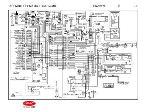 Wiring 3 Schematic by Caterpillar Adem Iii C10 C12 3406e Engines Complete