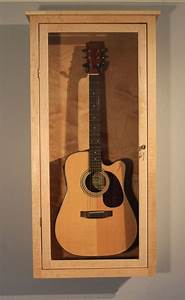 Guitar Display Case, wall mount