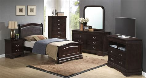 G3125 Youth Upholstered Headboard Bedroom Set Glory