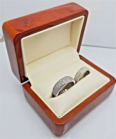 luxury real walnut wedding ring box engagement recommended by ebay